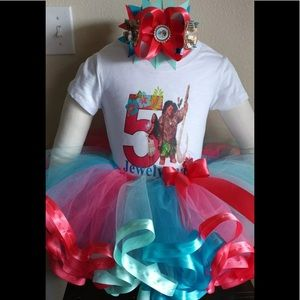 Moana Birthday Party Tutu Outfit